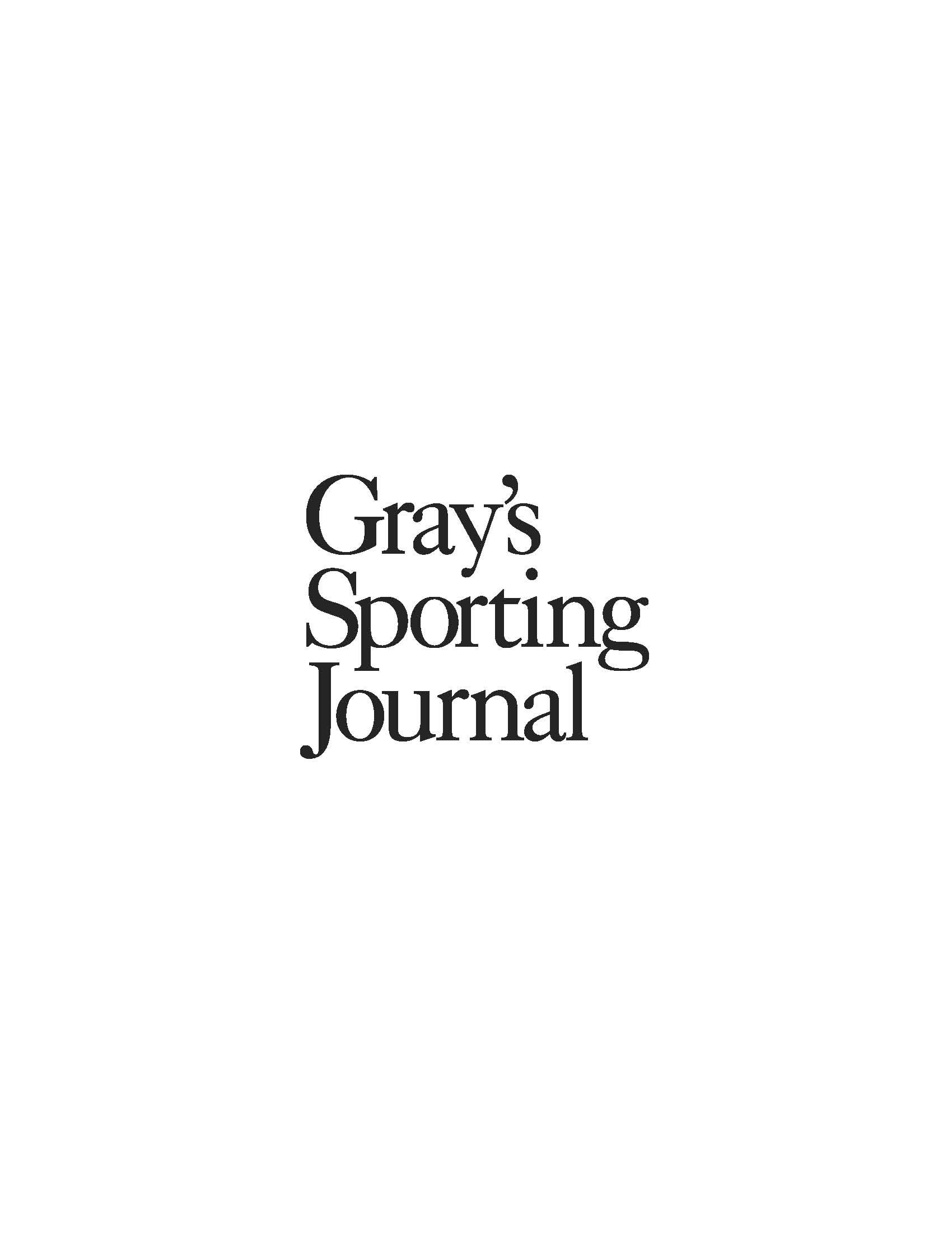 Submissions  GrayS Sporting Journal